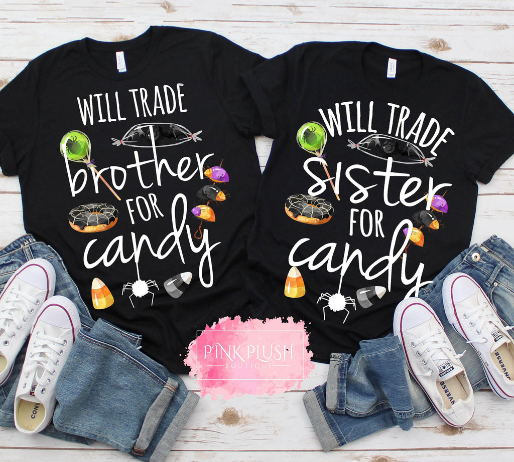 "CLEARANCE - ""Will trade SISTER for CANDY"" Tshirt - SIZE: 3T"