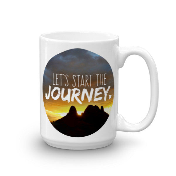 """Start the Journey"" Arizona Rocky Sunset Mug"