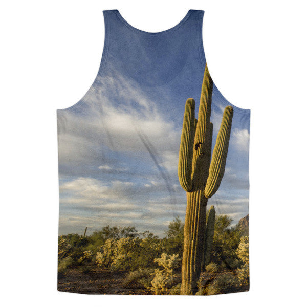 Saguaro Cactus Design Arizona All-over Tank Top (unisex)