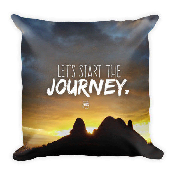 """Start the Journey"" Pillow Arizona Sunset Design Pillow"