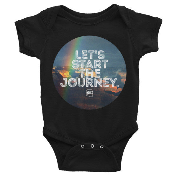 """Start the Journey"" Arizona Desert Rainbow Photography Onesie"