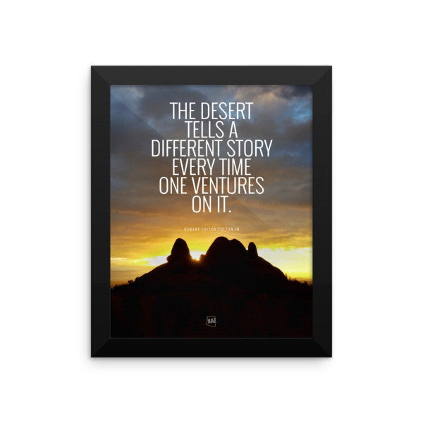 """Desert Story"" Framed Arizona Sunset Poster"