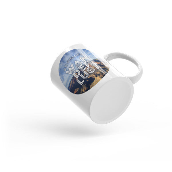 """Wanderlust"" Arizona Mountain Canyon Mug"