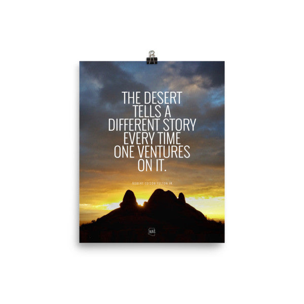 Desert Story Unframed Arizona Sunset Poster