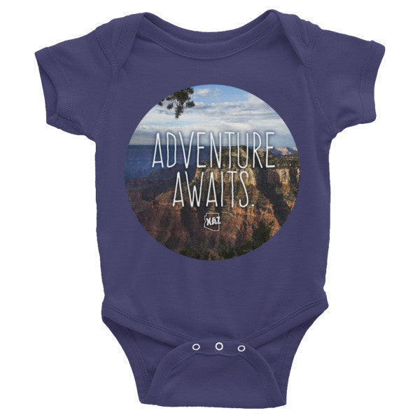"""Adventure Awaits"" Grand Canyon Photography Arizona Onesie"