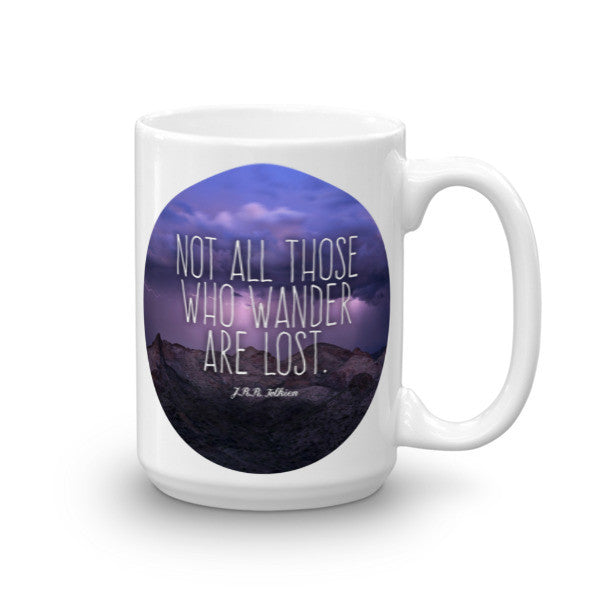 """Those Who Wander"" Arizona Stormy Mountain Mug"