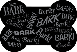 Wholesale (2 Units) Bark! Bark! Bone Shaped Accent Mats