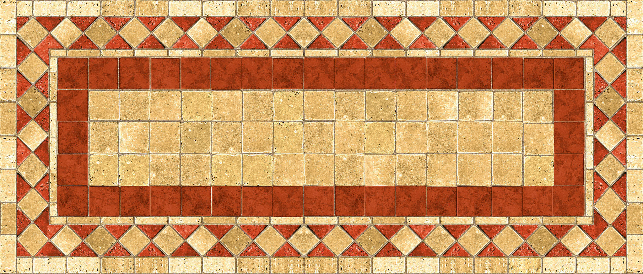 Red Tile Mosaic FoFlor Accent Mats