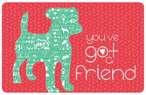 "Wholesale- (2 Units) You've Got A Friend 23""x36"" Accent Mat by Amylee Weeks"