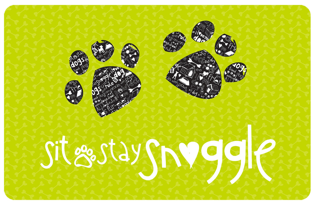 "Sit, Stay, Snuggle 23""x36"" Accent Mat by Amylee Weeks"