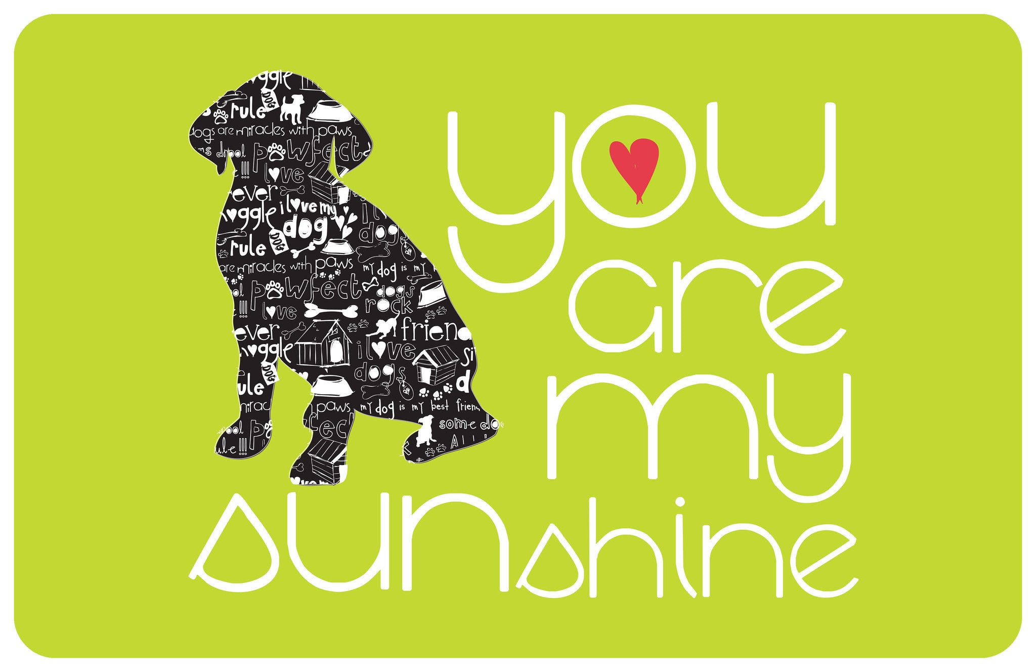 "You Are My Sunshine 23""x36"" Accent Mat by Amylee Weeks"