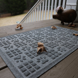 WaterHog® Pet - Dog Paw Squares 2x3 Indoor/Outdoor Doormat