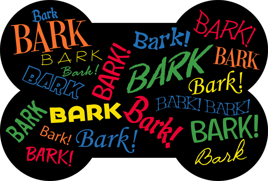 Bark! Bark! Multi Bone Shaped Accent Mats