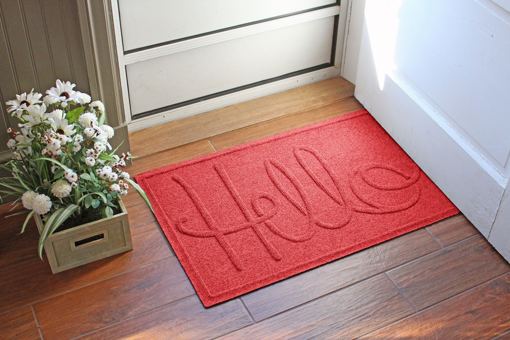 Wholesale- (2 units) Waterhog Hello Doormat 2'x3'