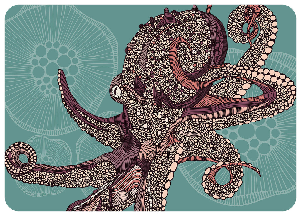 "Wholesale- (2 units) Octopus Bloom 23""x36"" Accent Mat by Valentina"