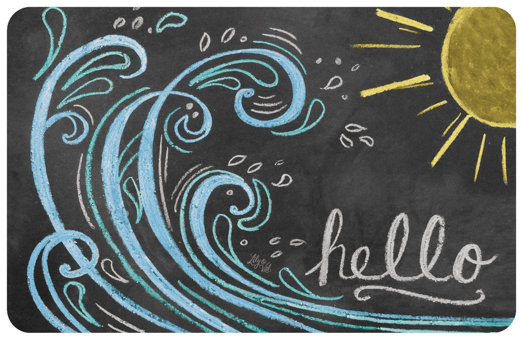 "Wave Hello Color 23""x36"" Accent Mat by Lily & Val"