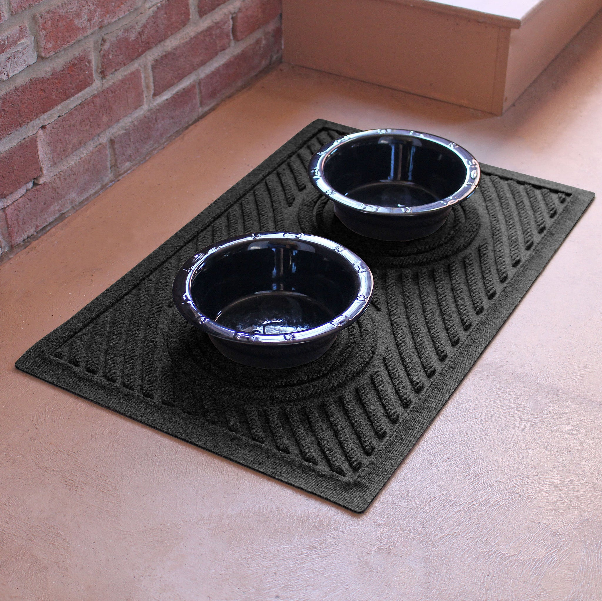 "Wholesale- (2 units) Waterhog Dog Bowl Wave 18""x27"" Pet Feeder Mat"