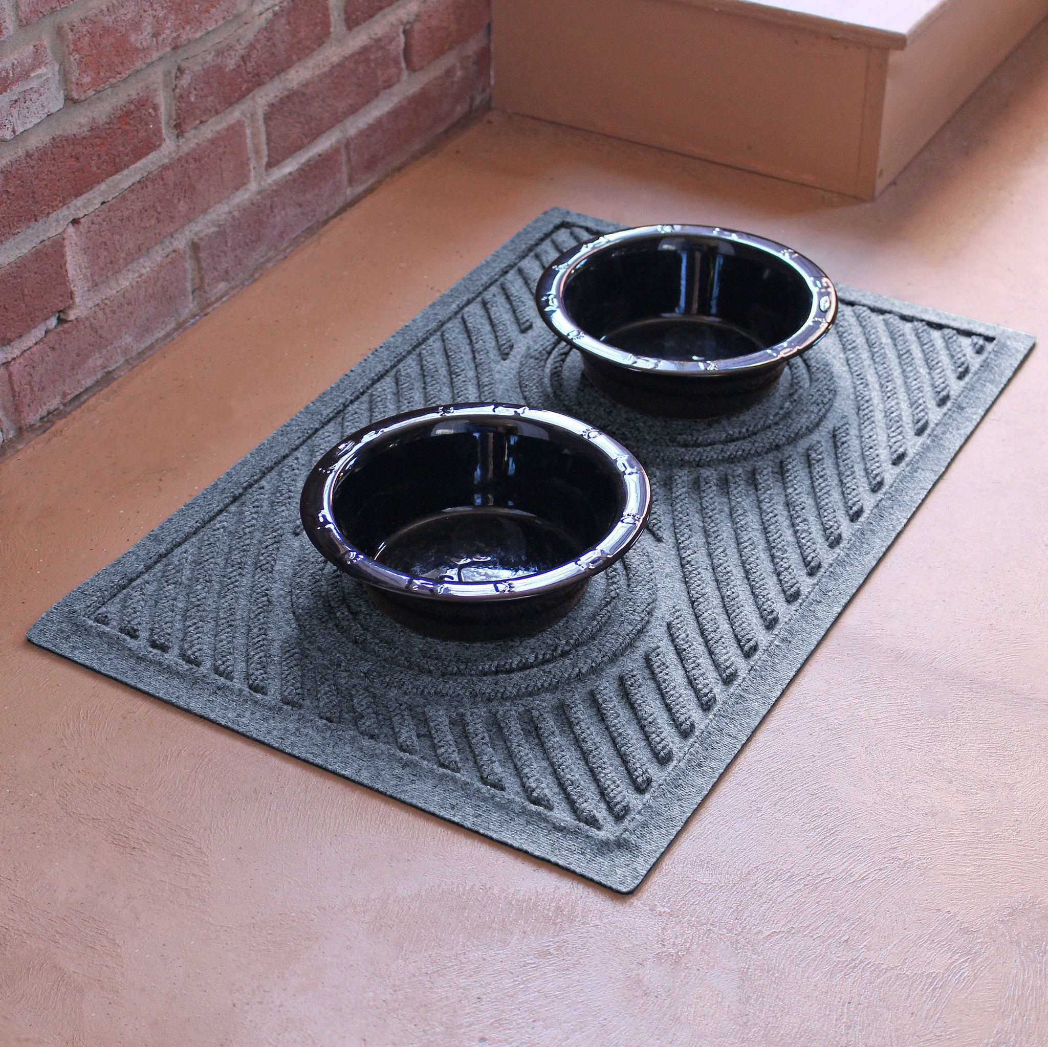"Wholesale- (2 units) Waterhog Dog Bowl Wave 18""x28"" Pet Feeder Mat"