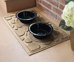 "Wholesale- (2 units) Waterhog Dog Bowl Dots 18""x27"" Pet Feeder Mat"