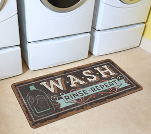 "Wash, Rinse, Repeat 25""x60""Laundry Runner by Pela Studio"