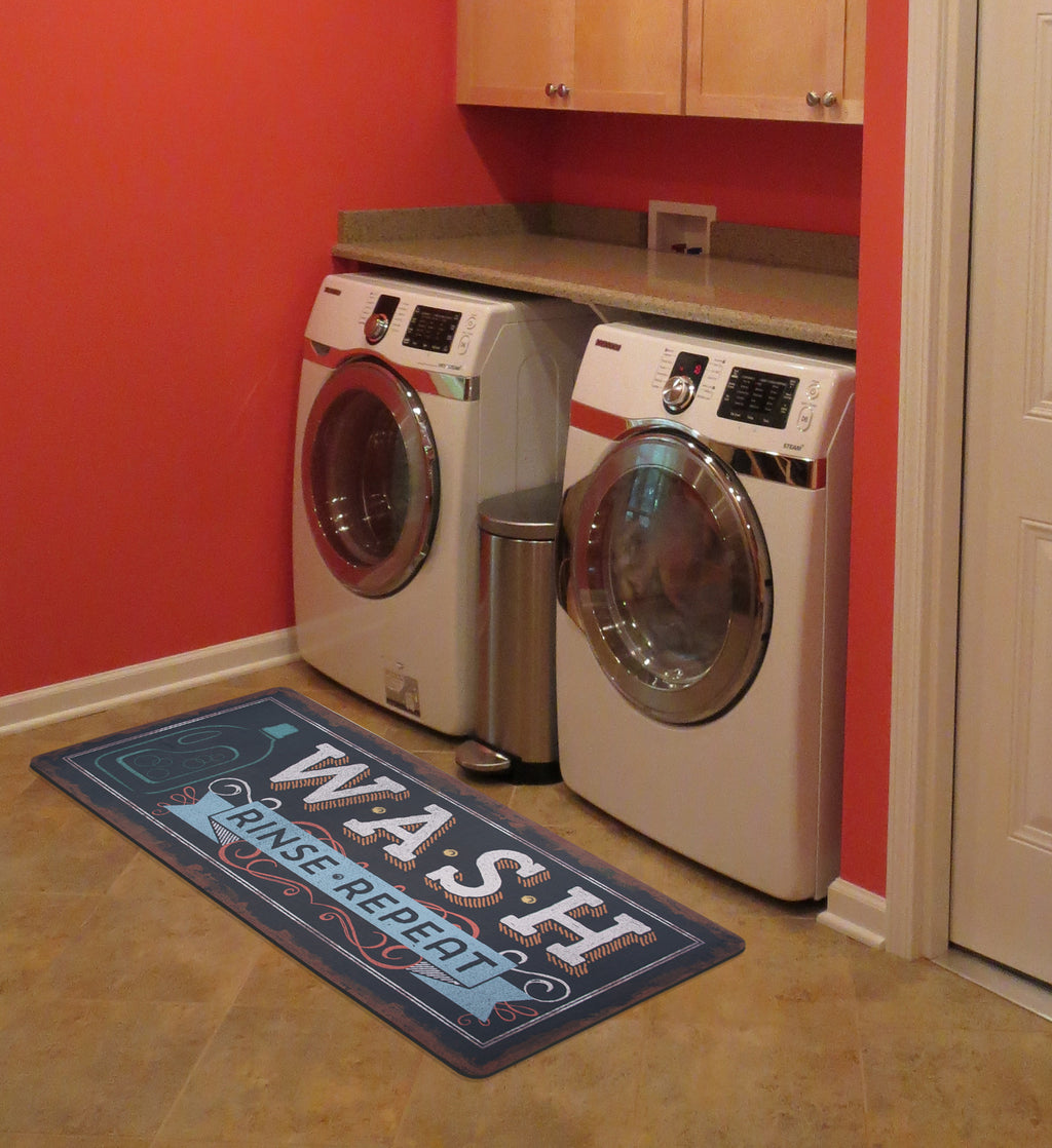 "Wholesale- (2 units) Wash, Rinse, Repeat 25""x60""Laundry Runner by Pela Studio"