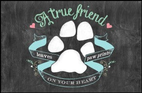 "True Friend Paws 23""x36"" Accent Mat"