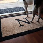 2020 ColorStar - Basic Monogram Black - Indoor/Outdoor Doormat