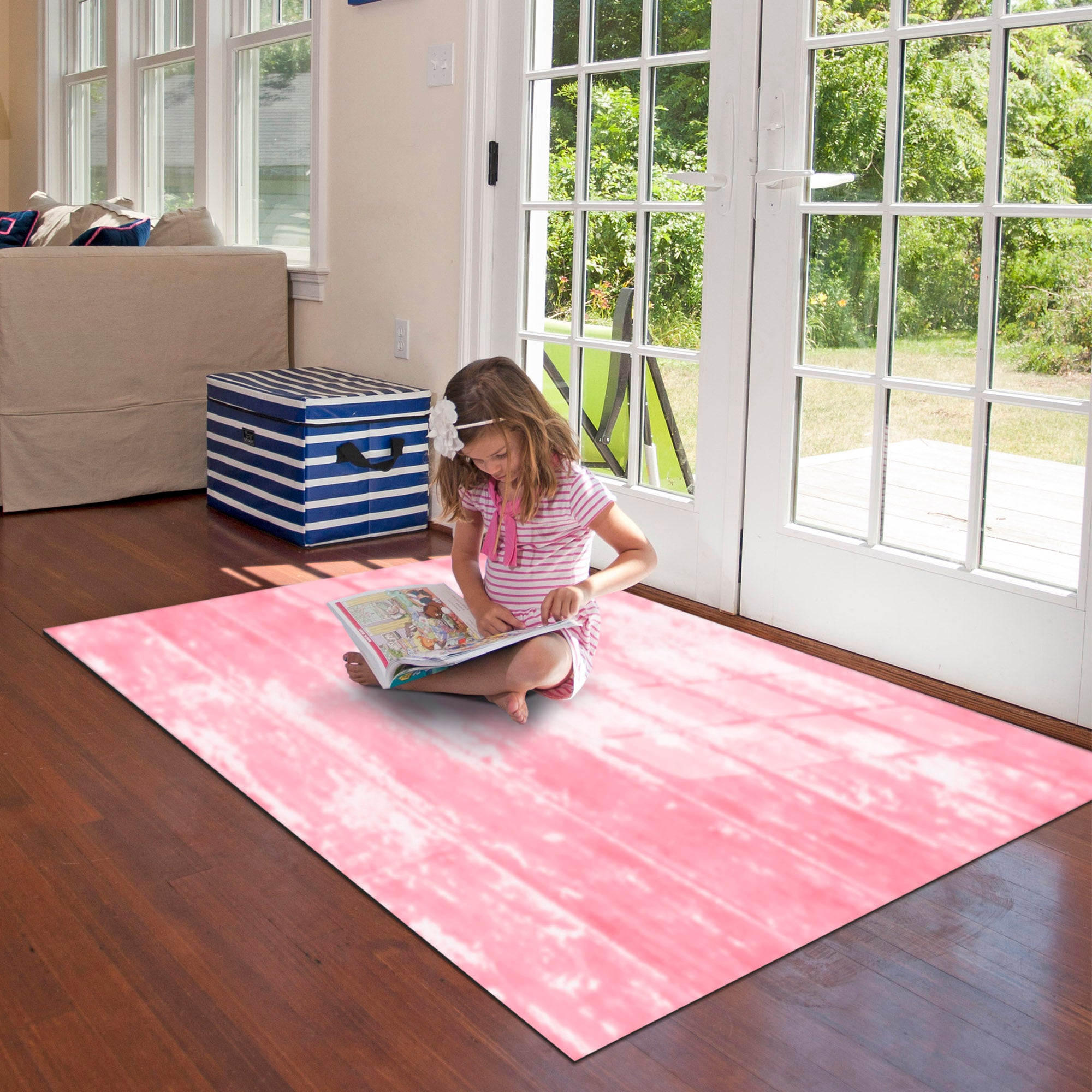 Painted Floor Pink FoFlor Accent Mats