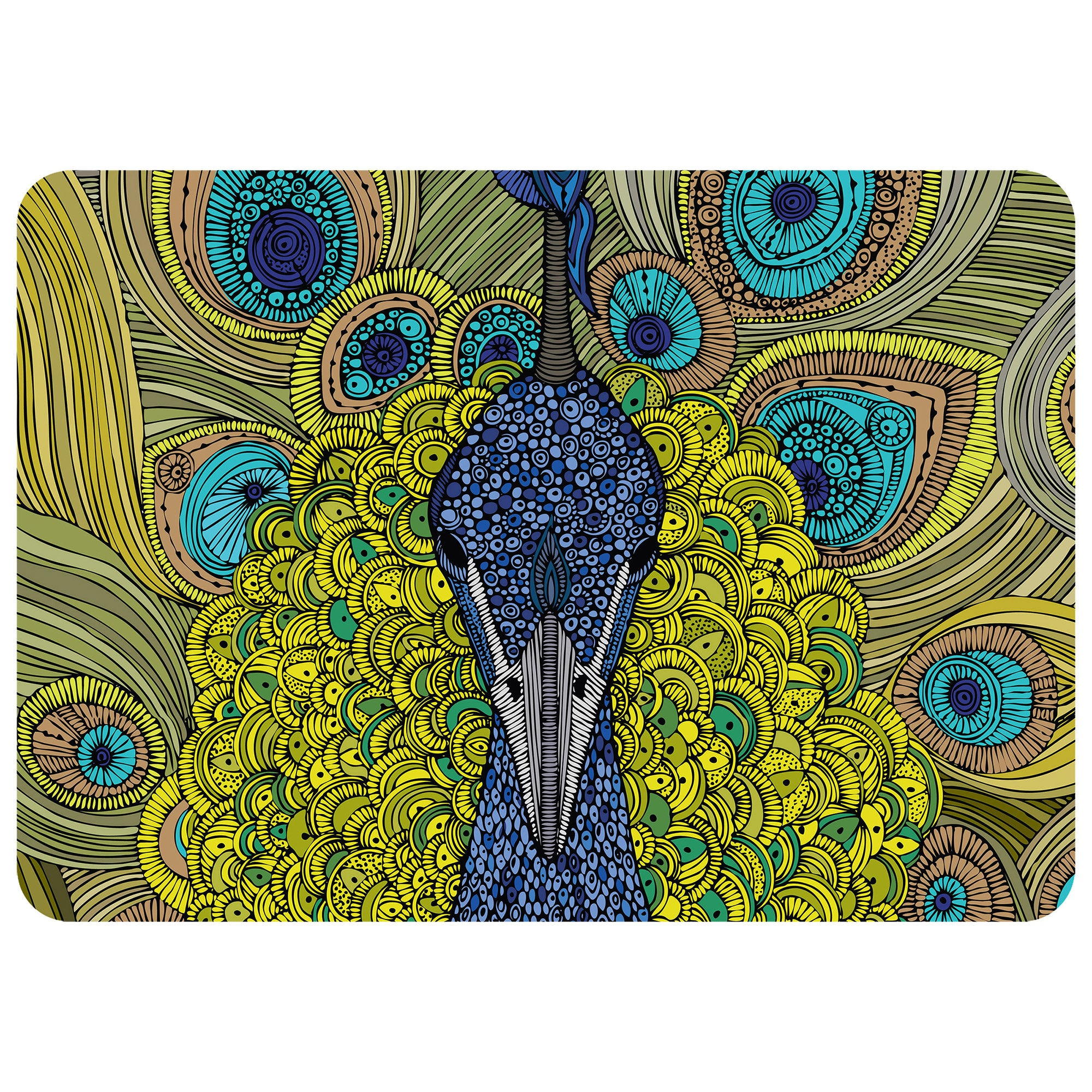 "The Peacock 23""x36"" Accent Mat by Valentina"