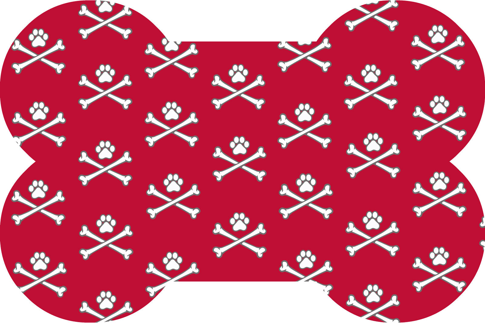 Wholesale (2 Units) Matey--Skull & Crossbones Bone Shaped Accent Mats