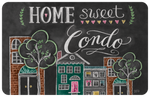"Wholesale- (2 units) Home Sweet Condo 23""x36"" Accent Mat by Lily & Val"
