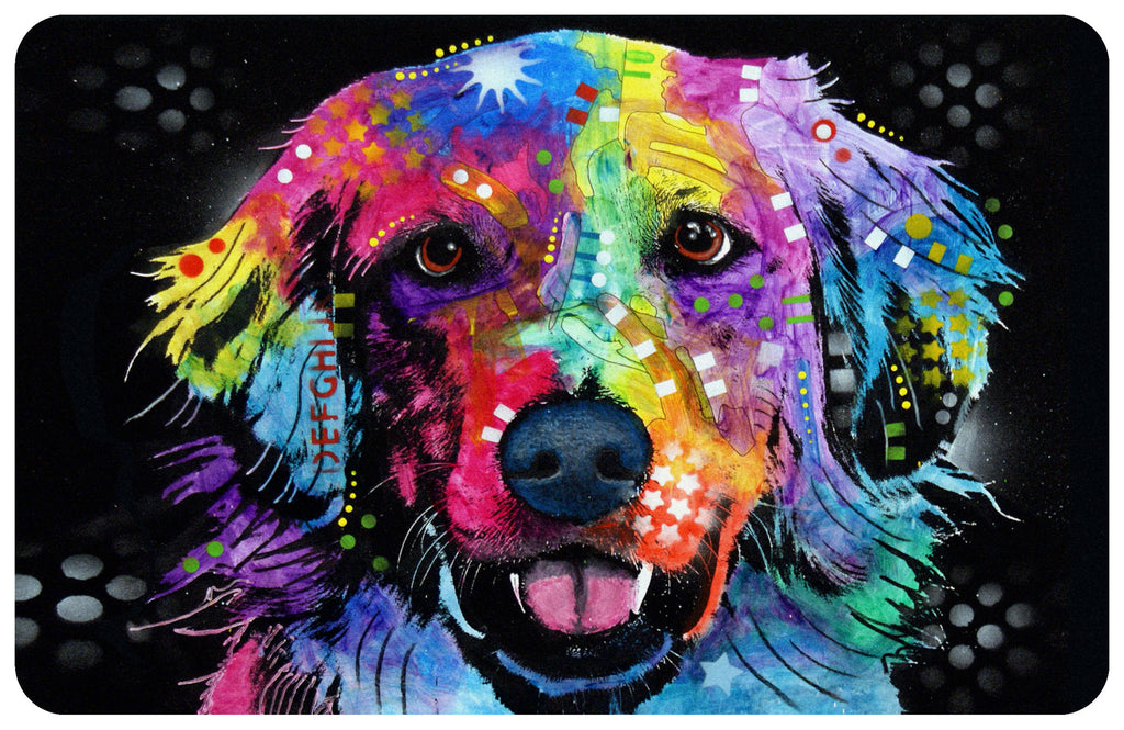"Wholesale- (2 units) Golden Retriever 23""x36"" Accent Mat by Dean Russo"