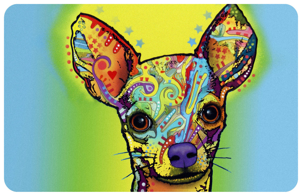 "Wholesale- (2 units) Chihuahua 23""x36"" Accent Mat by Dean Russo"
