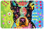 "Boston Terrier Crowned 23""x36"" Accent Mat by Dean Russo"