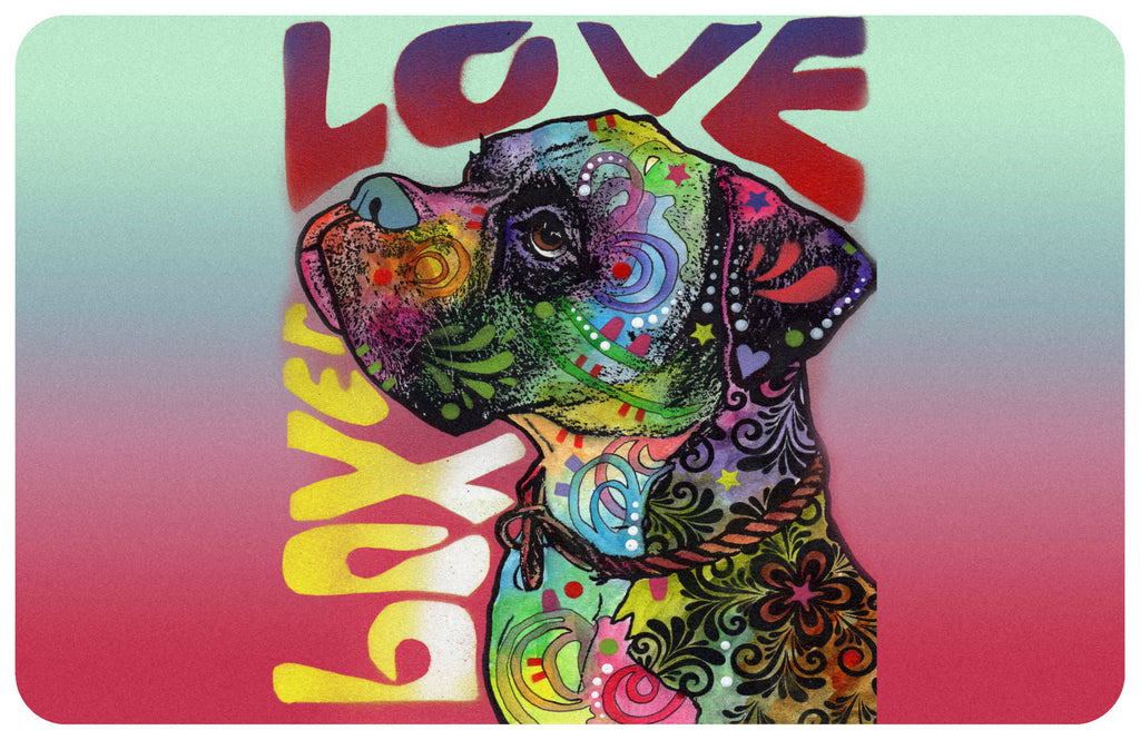 "Wholesale- (2 units) Boxer Love 23""x36"" Accent Mat by Dean Russo"