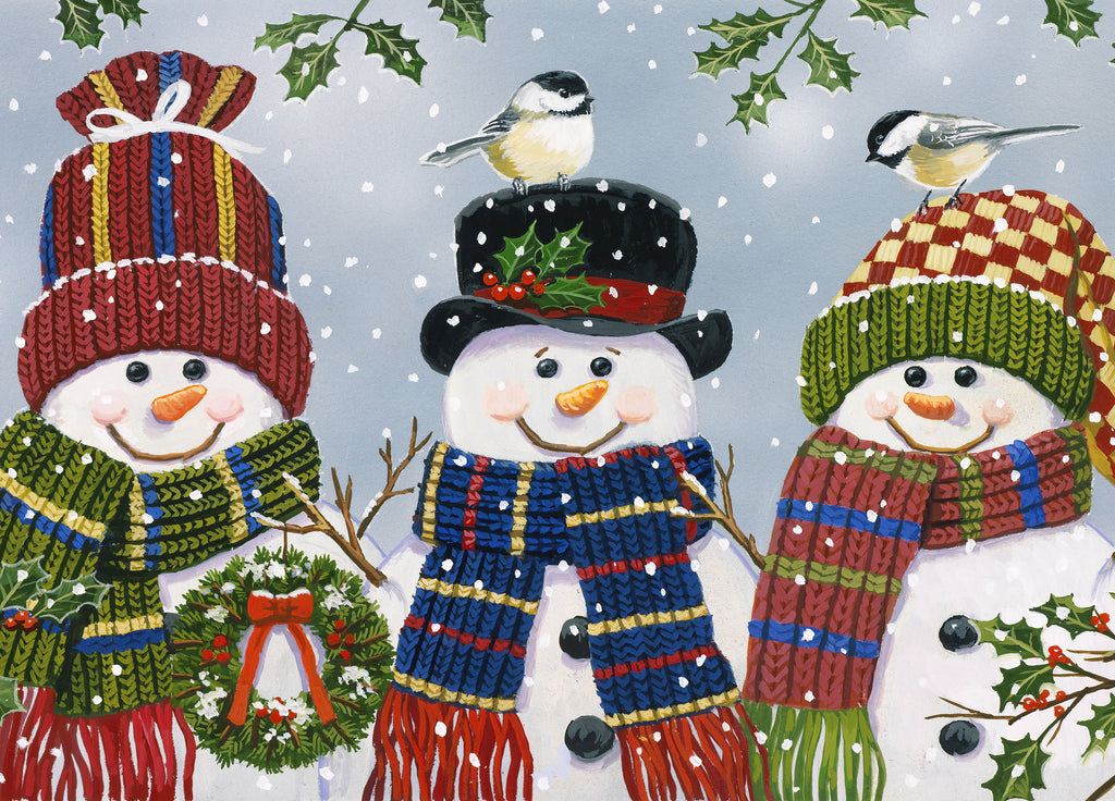 "Wholesale- (2 units) Premium Comfort Snowman Trio 22""x31"" Mat by William Vanderdasson"