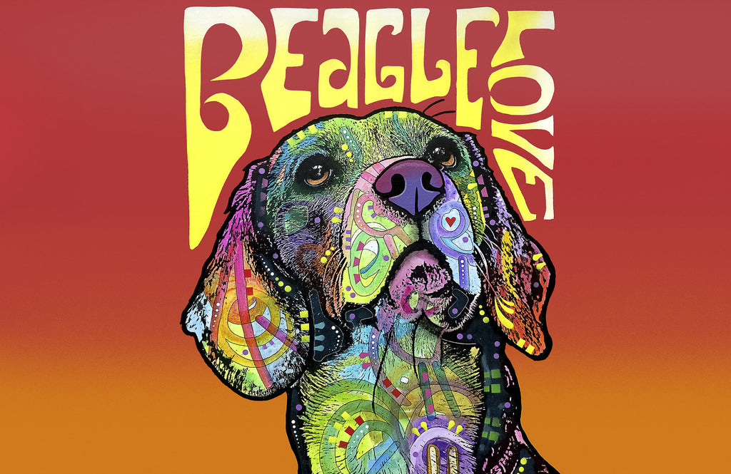 "Beagle Love 23""x36"" Accent Mat by Dean Russo"