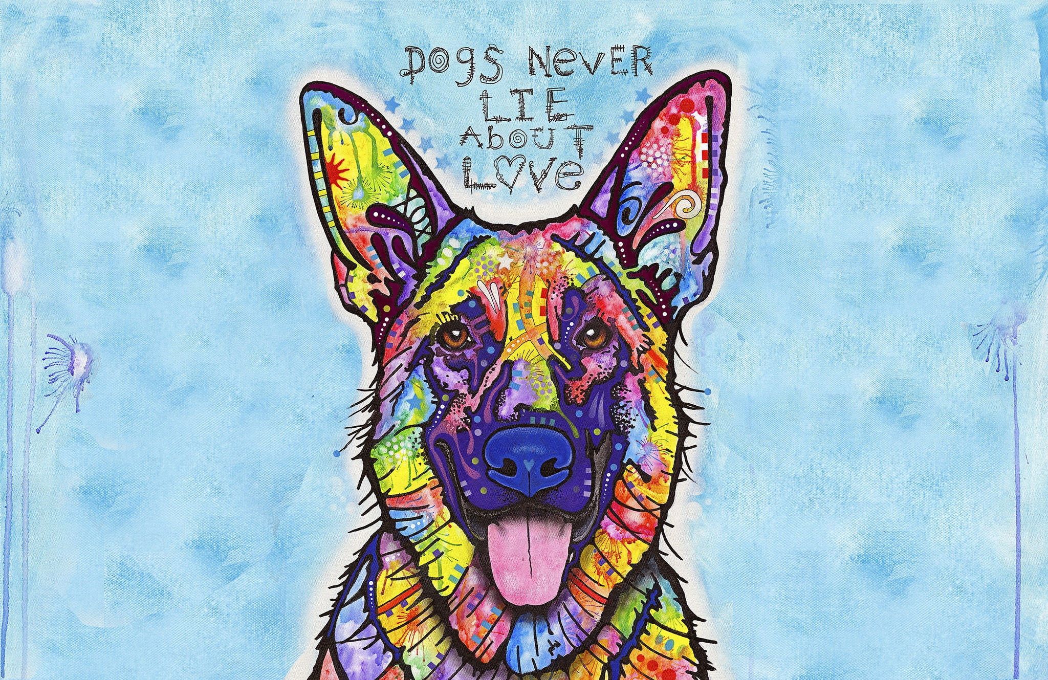 "Wholesale- (2 units) Dogs Never Lie 23""x36"" Accent Mat by Dean Russo"