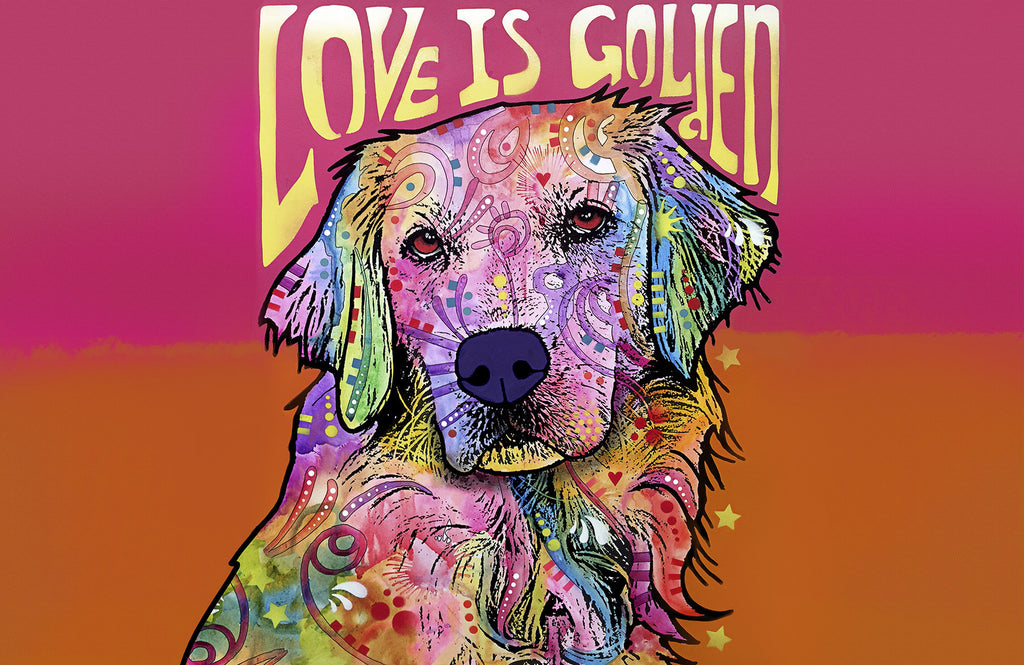 "Wholesale- (2 units) Love is Golden 23""x36"" Accent Mat by Dean Russo"