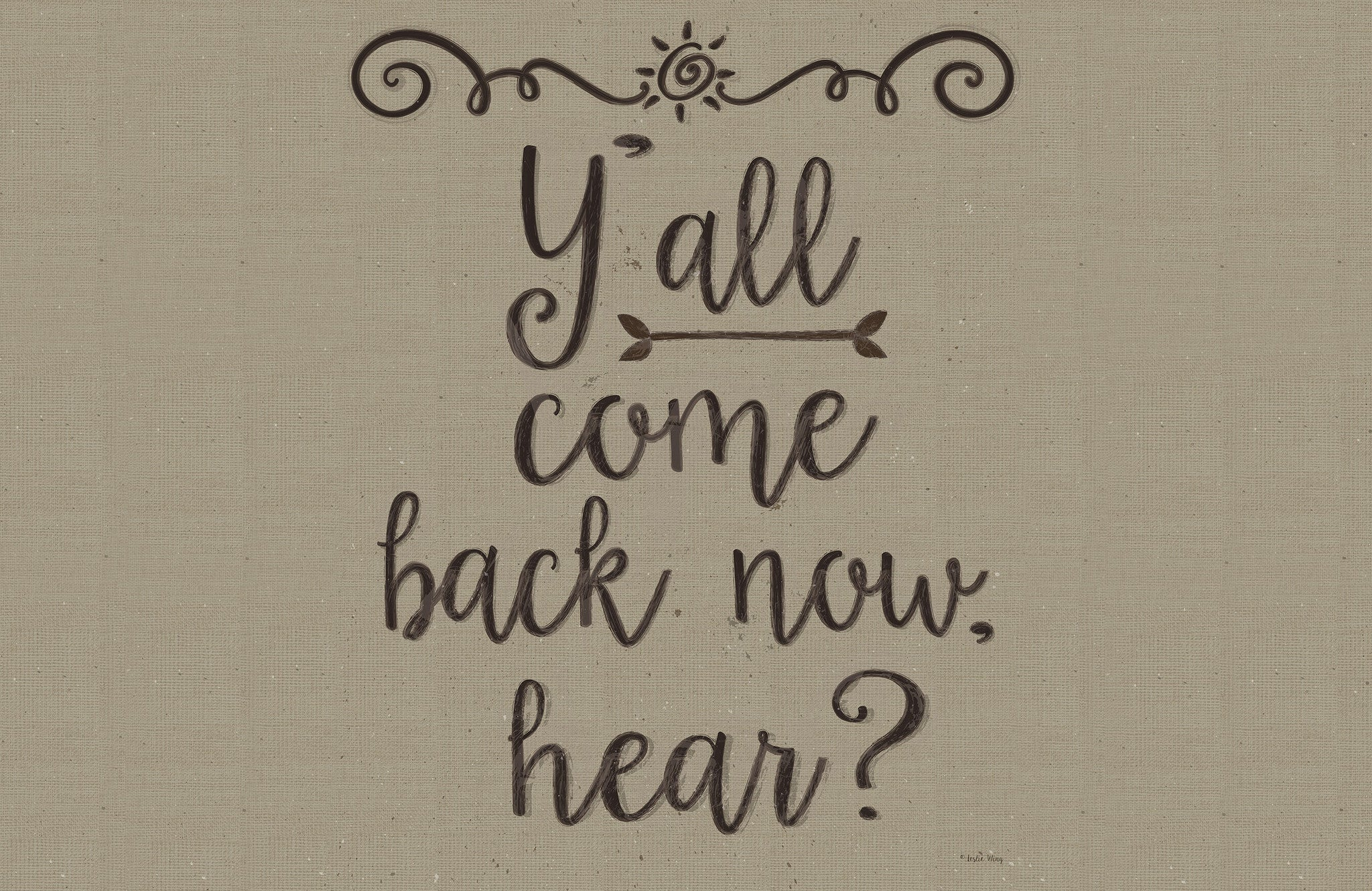 "Y'all Come Back 23""x36"" Accent Mat by Leslie Wing"