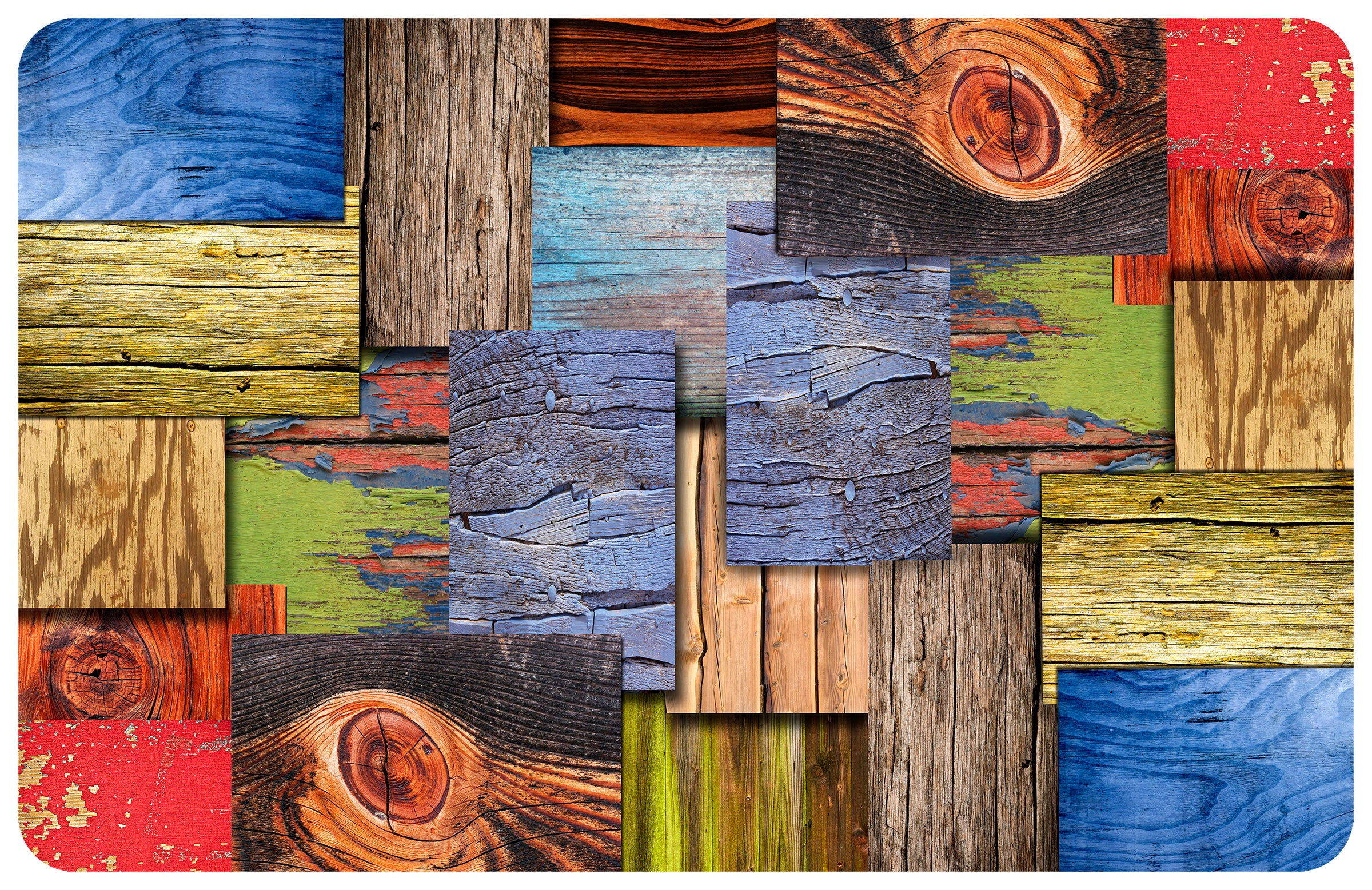 Wholesale- (2 units) Layered Wood FoFlor Accent Mats