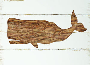 "Wholesale- (2 units) Premium Comfort Driftwood Whale 22""x31"" Mat by Jennifer Pugh"