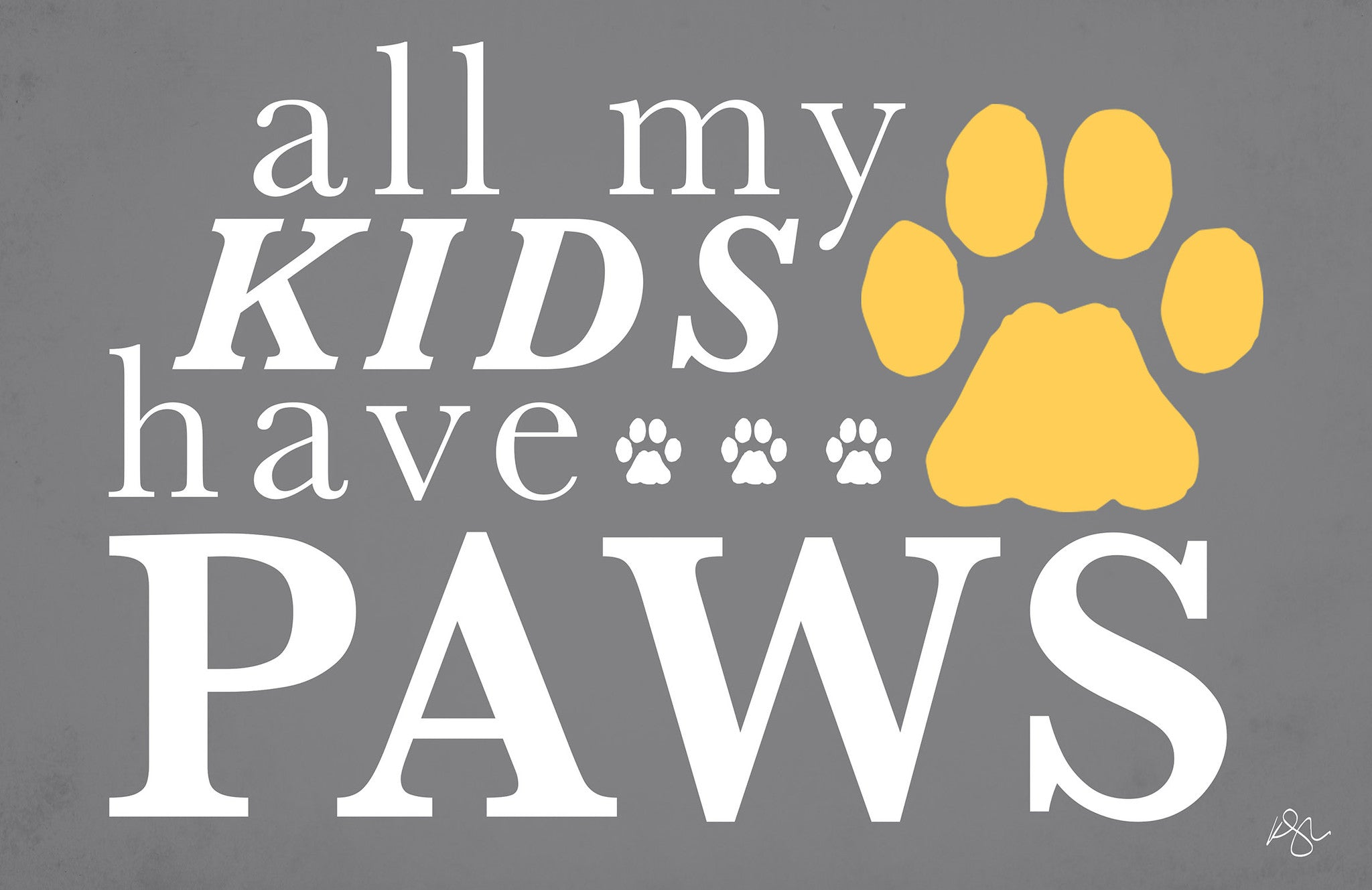 "All My Kids Have Paws 23""x36"" Accent Mat by Kimberly Glover"