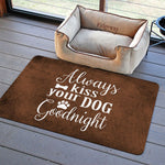 "Always kiss Your Dog 23""x36"" Accent Mat by Tamara Robinson"