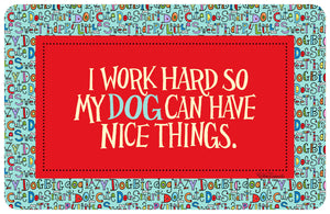 "Wholesale- (2 units) I Work Hard 23""x36"" Accent Mat by Robin Roderick"