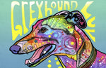 "Wholesale- (2 units) Greyhound Luv 23""x36"" Accent Mat by Dean Russo"