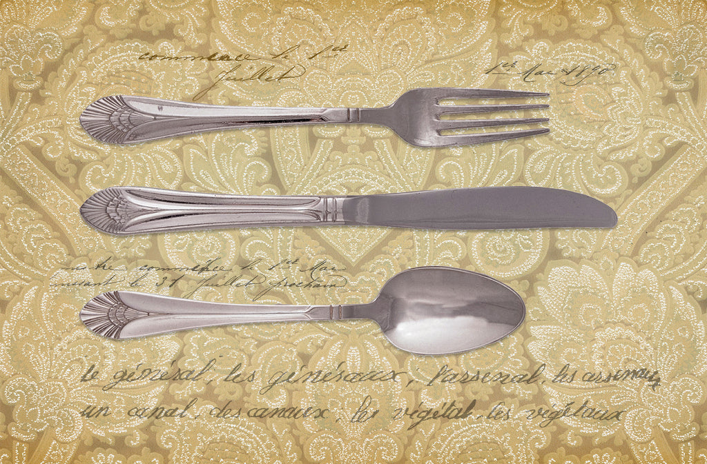 Wholesale (2 Units) FlorArt Royal Silverware Accent Mat