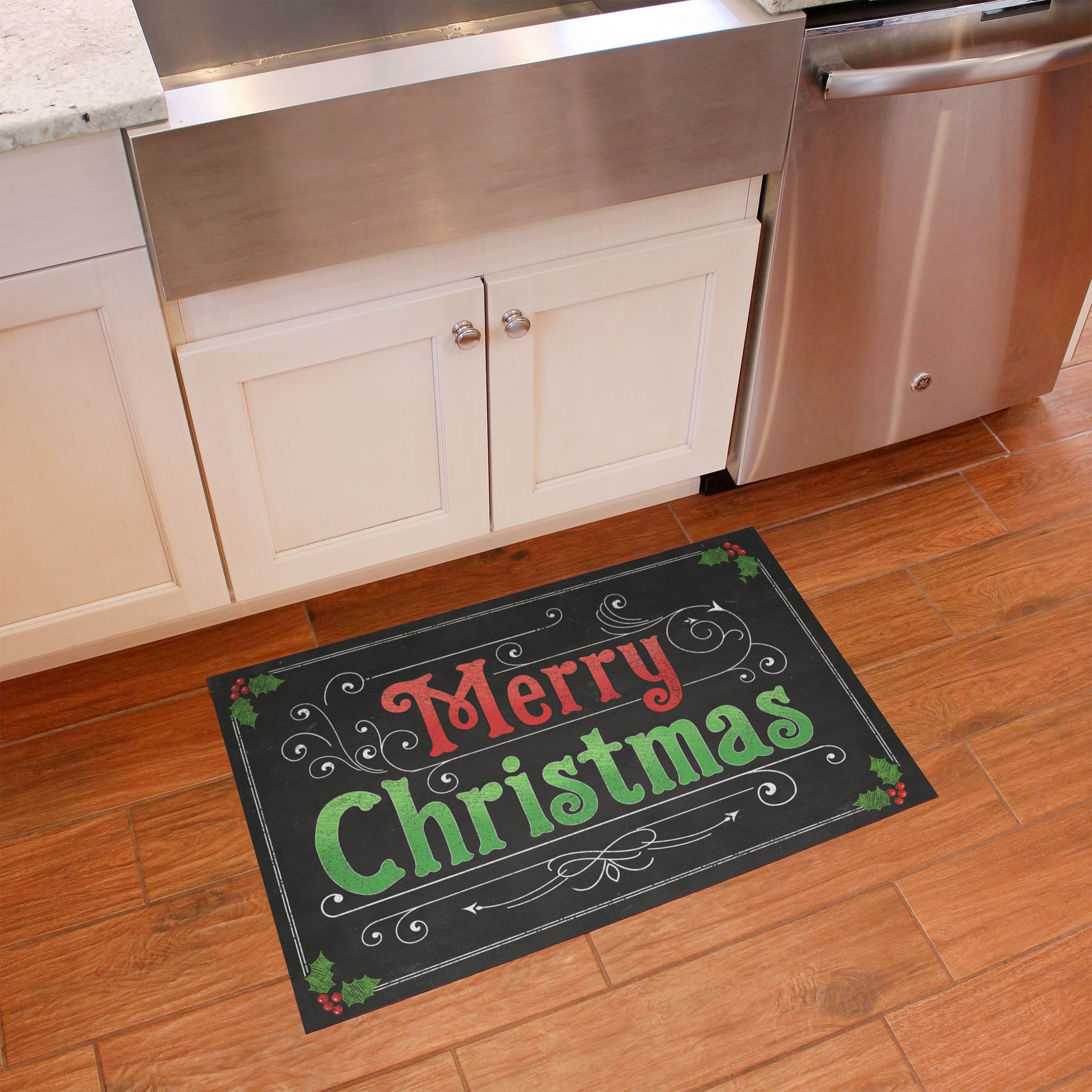 FlorArt Blackboard Christmas Accent Mat