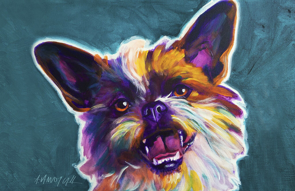 "Brussels Griffon-Spicey 23""x36"" Accent Mat by Dawgart"