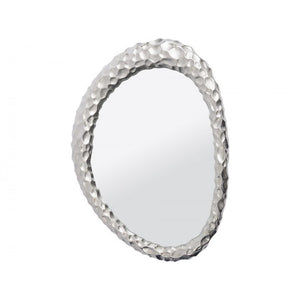 Polished Silver Ovate Mirror - Global Trading